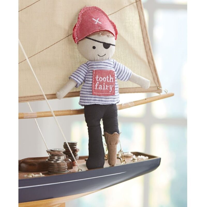 Mud Pie E1 Kids Baby Boutique Boy 9in Pirate Tooth Fairy Doll 2112344