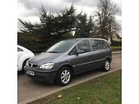 VAUXHALL ZAFIRA 2005 1.6 7 SEATER LONG MOT VERY CLEAN INSIDE AND OUT BARGIAN
