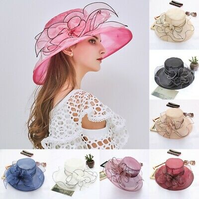 - US Womens Fascinators Kentucky Derby Church Dress Wedding Floral Tea Party Hat