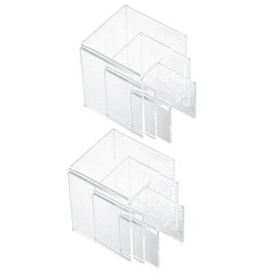6x Clear Acrylic Jewelry Display Risers Showcase Fixtures