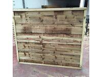 Waneylap wooden fence panels 8mm tanalised