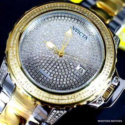 Invicta Subaqua Noma II 2.96 CTW Diamond Pave Automatic 2 Tone Steel Watch New