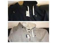 Men's RALPH LAUREN Tracksuit - Navy / Grey - FULL SET - Joggers and hoodies
