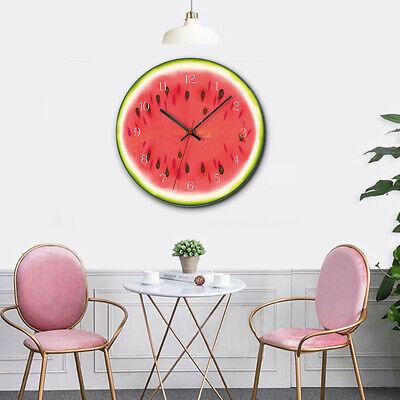 12Inch Wall Clock  Orange, Lemon, Kiwi, Watermelon Acrylic Wall Clock -04 Orange 12 Wall Clock