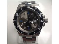 Rolex – submariner – All steel – Grey dial – Diamond markers
