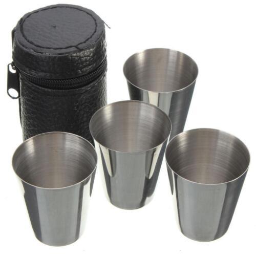 Pint Cup Pack 4 Stainless Steel Beer Water Coffee Tea Cup Tu