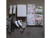 Nintendo Wii (White) **HARDLY USED** With Accessories and Games