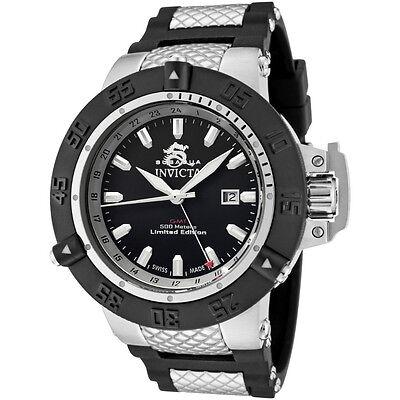 Swiss Made Invicta 0777 Subaqua Noma III GMT Limited Edition Watch + 3-Slot Box