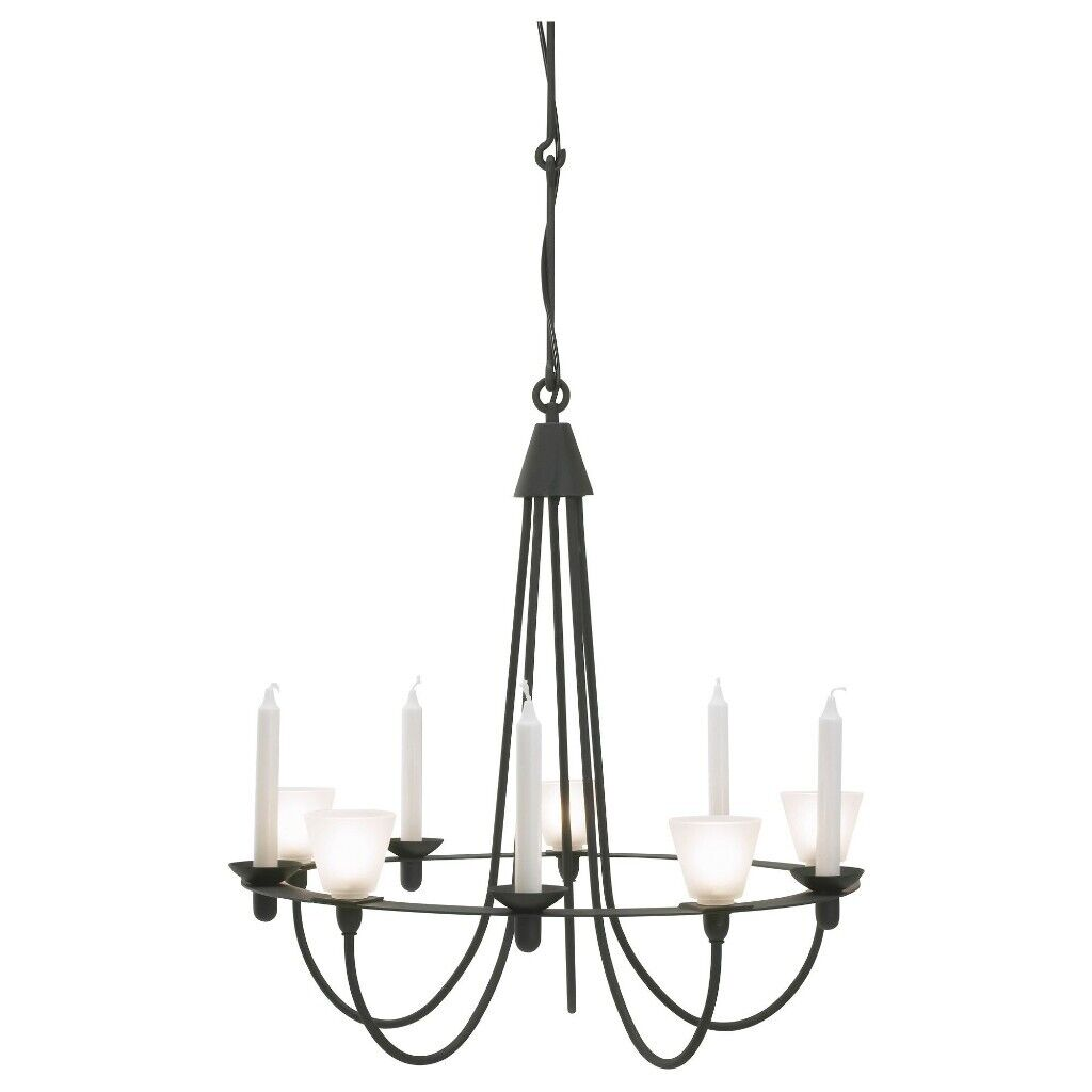 light Lerdal Chandelier black ceiling metalin Weston MareSomersetGumtree super IKEA v8nmwN0