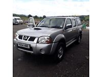 breaking silver nissan navara D22 double cab turbo diesel manual 4x4 parts spares