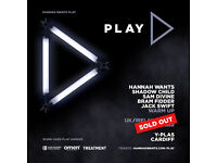 6 x tickets for sale to the SOLD OUT 'Hannah Wants PLAY tour'