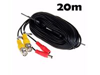 20-60M DVR BNC Cable CCTV DVR Security Camera DV Video Recorder DC Power Wire UK