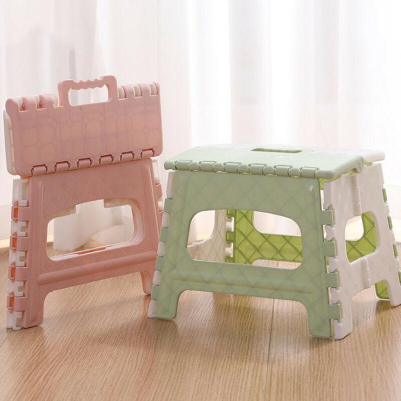 "Home Folding Step Stool For Kids Adults 18"" Heavy Duty Plast"