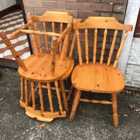 Chairs x3 pine country