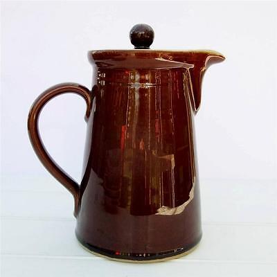 Vintage Denby Homestead Brown Coffee Pot
