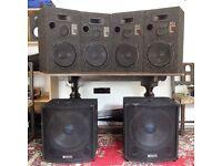 DJ Speakers - Ideal first speaker set or for Man Cave