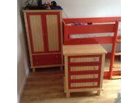 Kids wardrobe and drawers