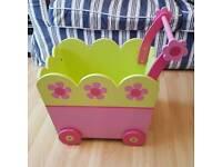 Vertbaudet Baby Walker With Wheel, green/pink
