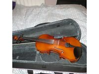 Violin - 3/4 size, with bow and case. Excellent condition selling as daughter now on full size