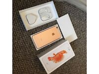 iPhone 6s rose gold 32 gb unlocked mint condition boxed with all accessories selling as upgraded