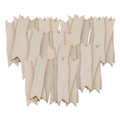 50 stücke holz ausschnitte pfeil formen holz verschönerung scrapbooking