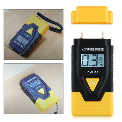 Usa Stock Digital Moisture Temperature Meter Humidity Timber Wood Damp Tester