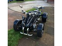 2016 road legal quad mot till Jan 2019. 2000 Ono or will swap for 125cc cruiser type motorcycle