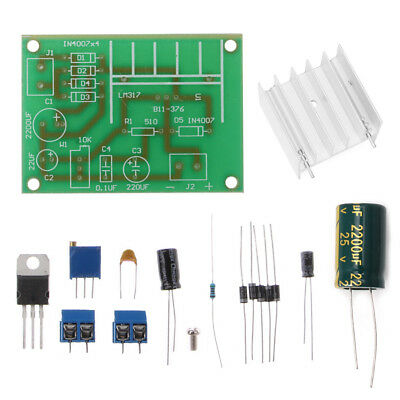 Lm317 Adjustable Power Supply Board With Rectified Ac Dc Input Diy Kit