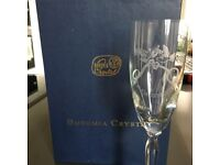 Bohemia Chrystal champagne flutes
