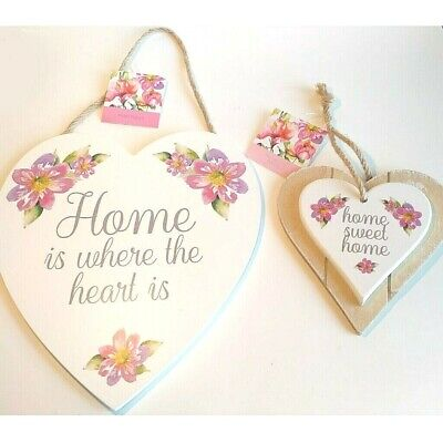 **New home gift ~ Home sweet home or Home is where the heart is ~ wooden sign.**