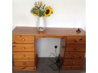 Pine desk/ dressing table