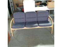Blue and peach fabric EFG sofa