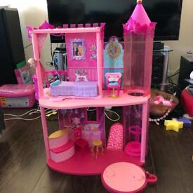 Barbie and The Charm School castle