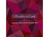 Konditor & Cook * Assistant Manager * London's Cake Shop * circa £20k - £23k salary + benefits *