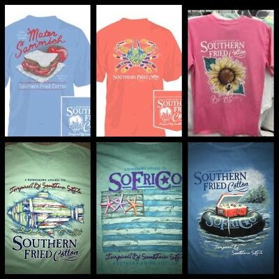 NWT Southern Fried Cotton S/S T-shirt SoFriCo Mater Crab Fish Star Tube Sun