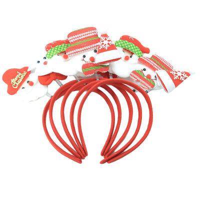 5 Stück Weihnachten Haarreif Weihnachtsmütze Santa auf Stirnband Haarband