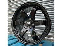 "Brand New Ford Fiesta Alloys Gloss Black 17"" 4x108 Wheels"