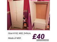 White wood wardrobe
