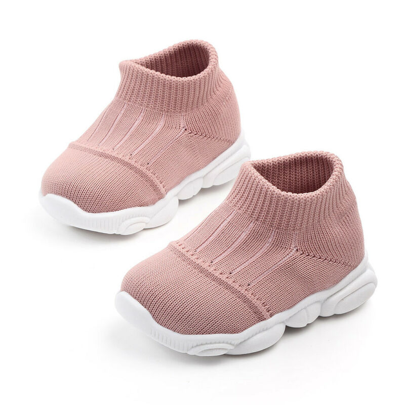 Toddler Infant Girls Boys Striped Sport Run Sneakers US