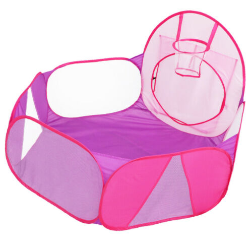 Pink Purple Pop Up Ball Pit Tent for Toddlers Girls Boys Ind
