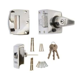 ERA Front Door Lock High Security BS3621 BRITISH STANDARD Nightlatch Chrome,Brass