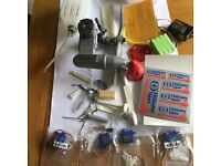 Never Run Model Aero Engine and various new parts