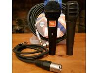 JBL/AKG & Audio Technica Microphones with XLR cables 1m& 6m