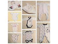 Large bundle of babies clothes 0-3