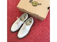 Dr Martens 1461 bone white in perfect condition size 4