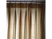 Full length fully lined curtains