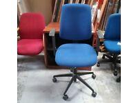 Sven Christiansen plc darker blue operator chair with armrests