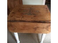 Upcycled shabby chic extending pine table