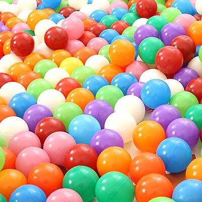 100 pcs 5.5cm Soft Plastic Colorful Ocean Ball Baby Kid Fun Toy Swim Pool Slide