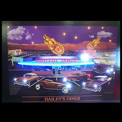 Hailey's Diner Neon / LED Lighted Picture 3HAINL w/ FREE Shipping